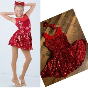Weissman Dear Future Husband sequin dance dress